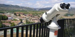 Binoculars for tourist viewpoints